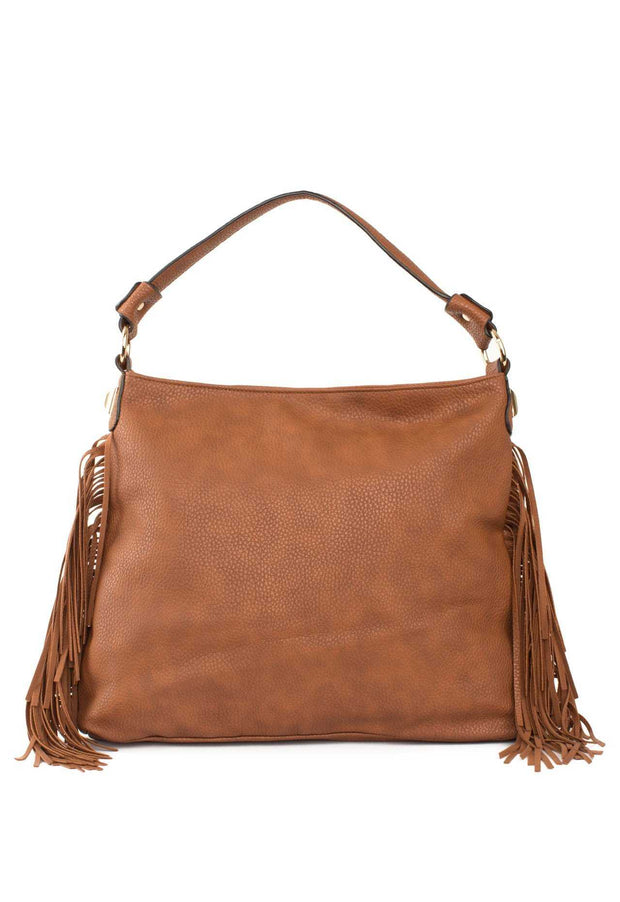 Accessories - Forever Fringe Purse - Tan