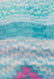 Accessories - Goodbye Zig Zag Infinity Scarf In Blue