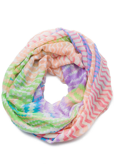 Accessories - Goodbye Zig Zag Infinity Scarf In Multi