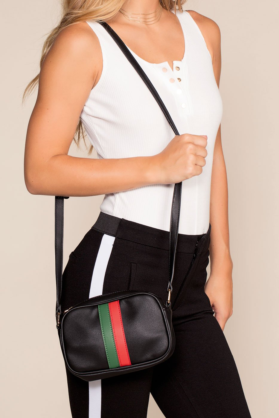 Accessories - Haskin Stripe Purse - Black