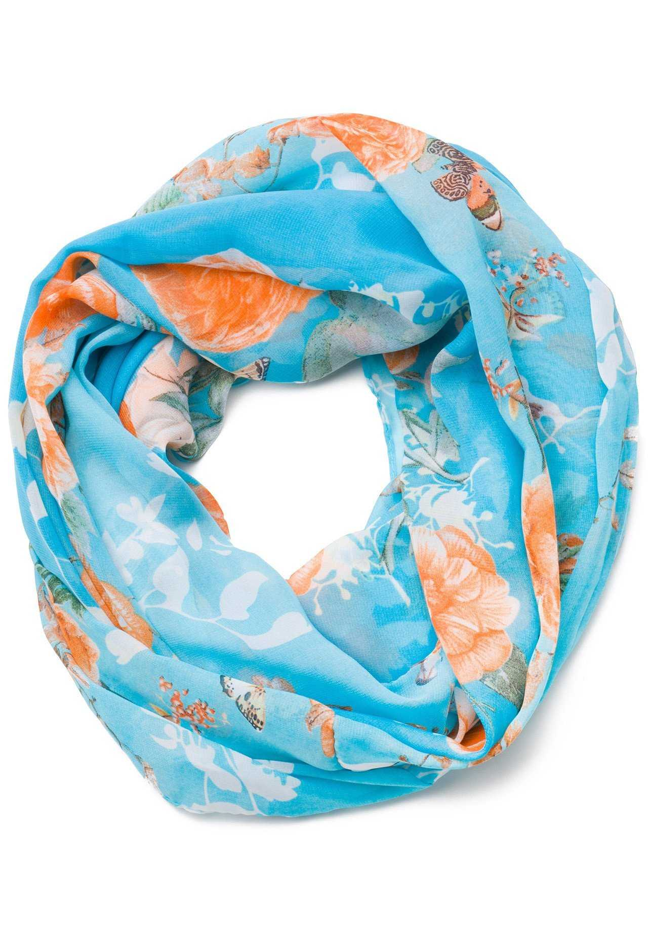 Flurry Snowflakes Blue Details about  /Hot Chillys MTF4000 Print Infinity Scarf Women/'s NEW