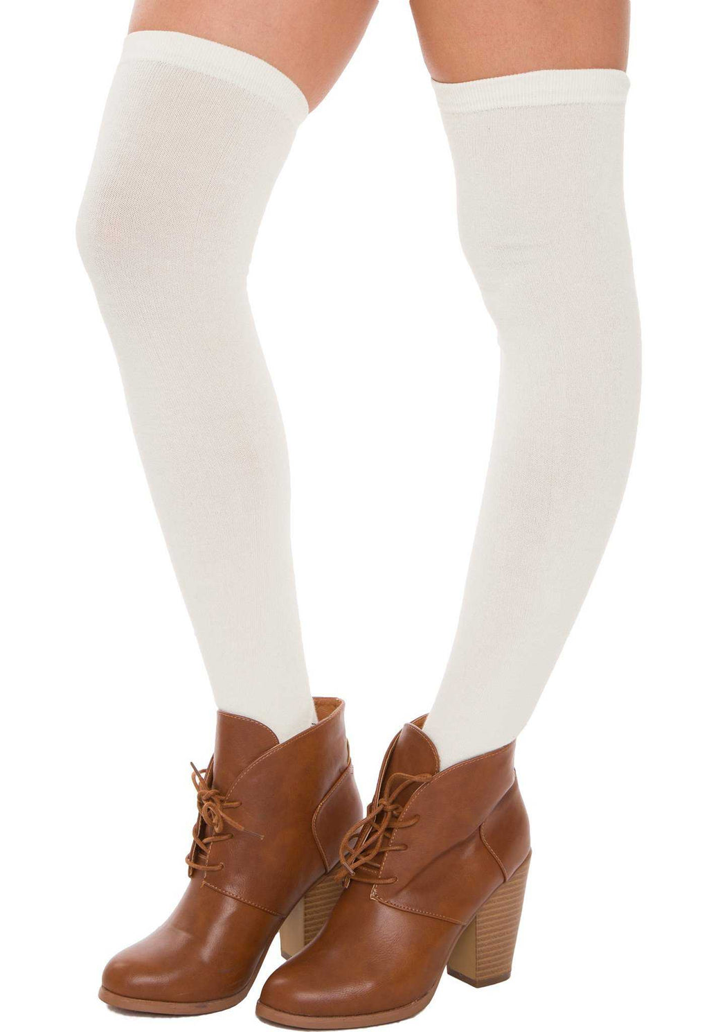 Accessories - Hope Over The Knee Socks In Ivory