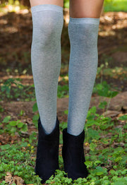 Accessories - Jane Over The Knee Socks In Grey
