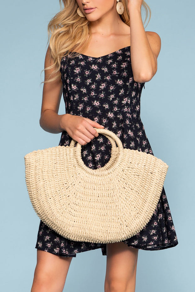 Ivory Woven Straw Bag