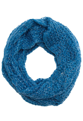 Goodbye Zig Zag Infinity Scarf in Blue