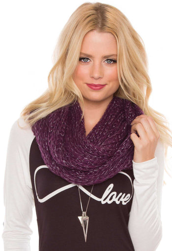 Accessories - Liberty Infinity Scarf In Plum
