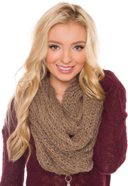 Accessories - Liberty Infinity Scarf In Taupe