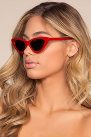 Retro Red Cat-Eye Sunglasses