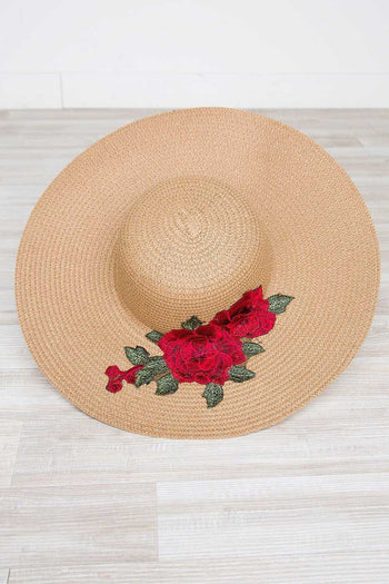 Accessories - Love Blooms Sunhat - Red