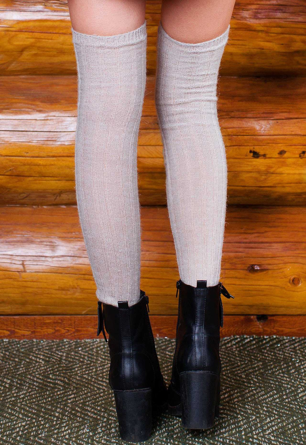 Accessories - Made It Over The Knee Socks - Grey