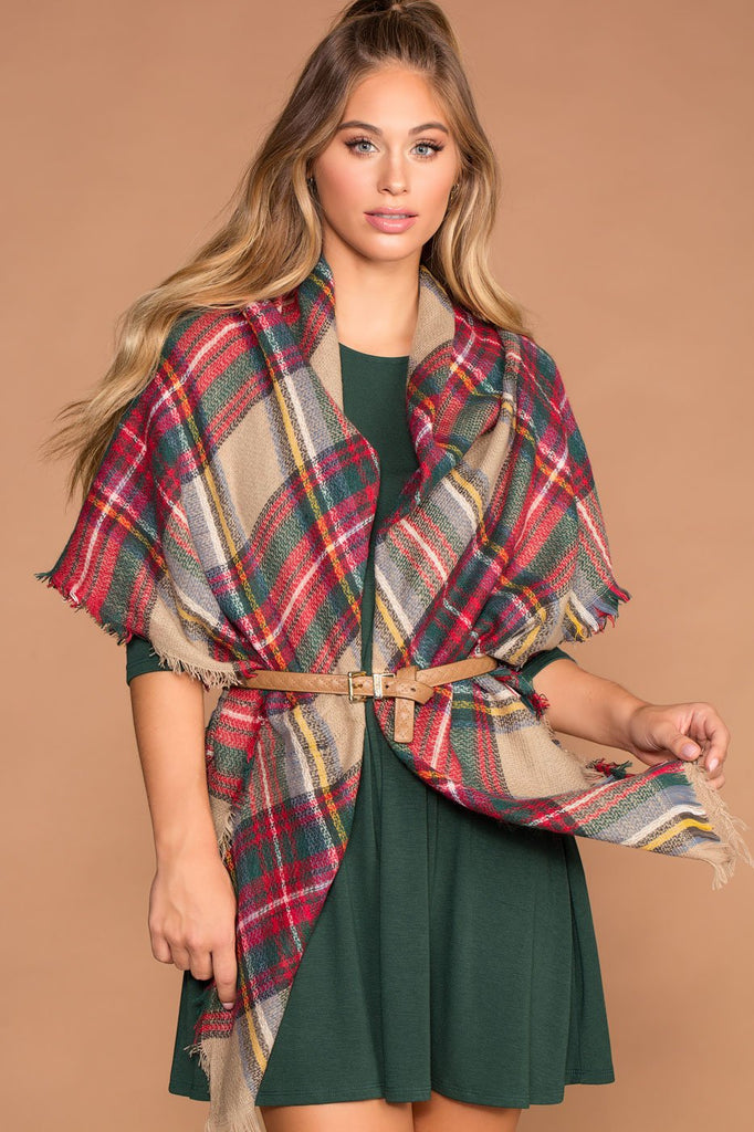 Accessories - Madison Plaid Blanket Scarf