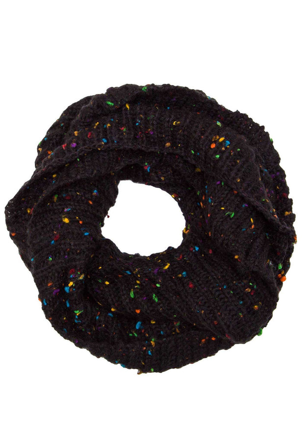 Accessories - Magnolia Infinity Scarf - Black