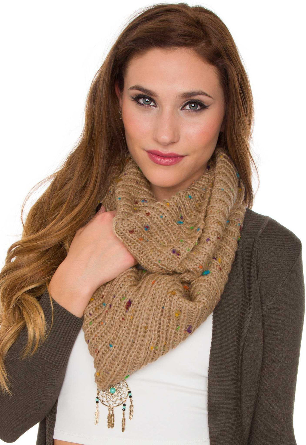Accessories - Magnolia Infinity Scarf - Taupe
