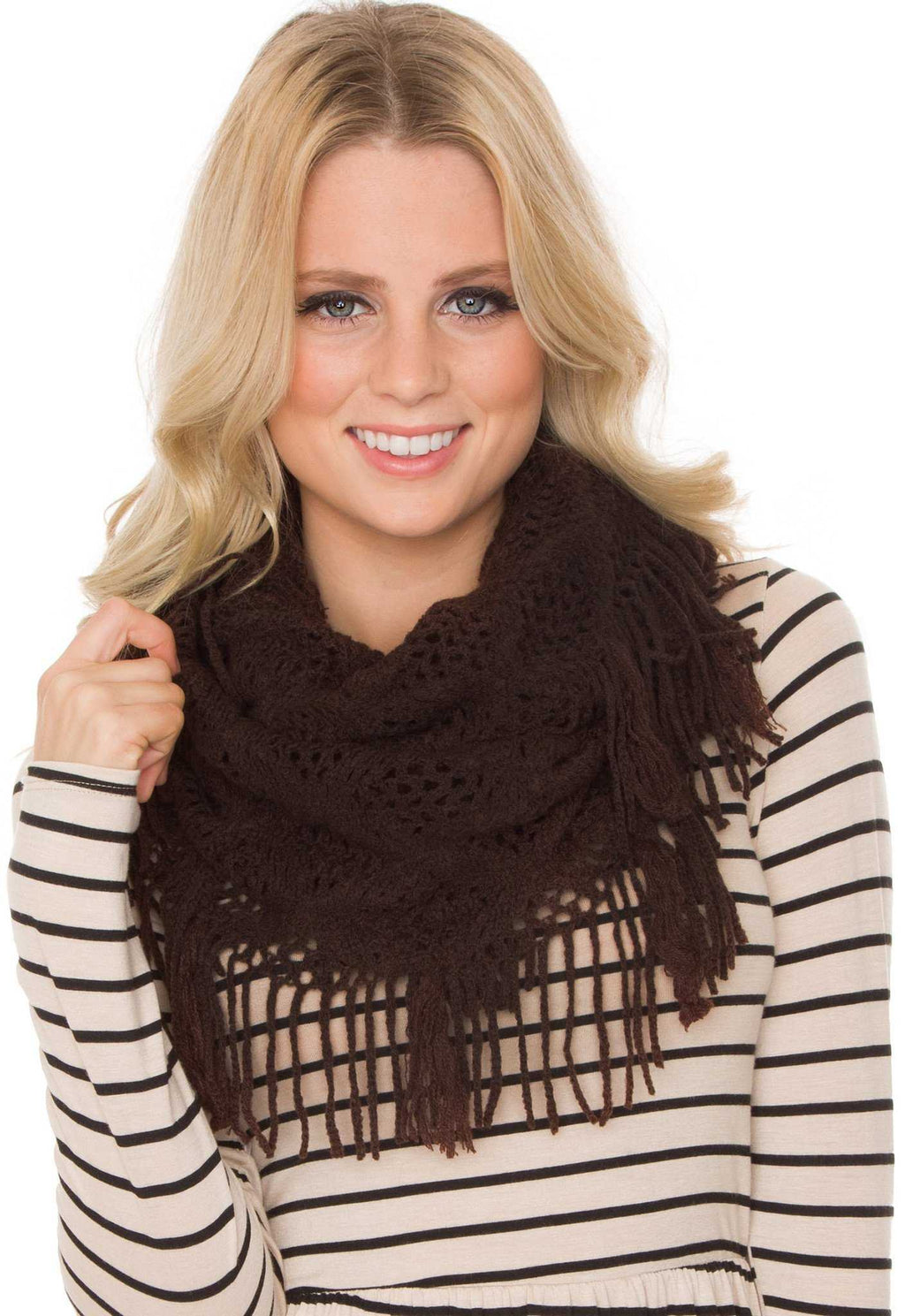 Accessories - Mercy Infinity Scarf - Brown