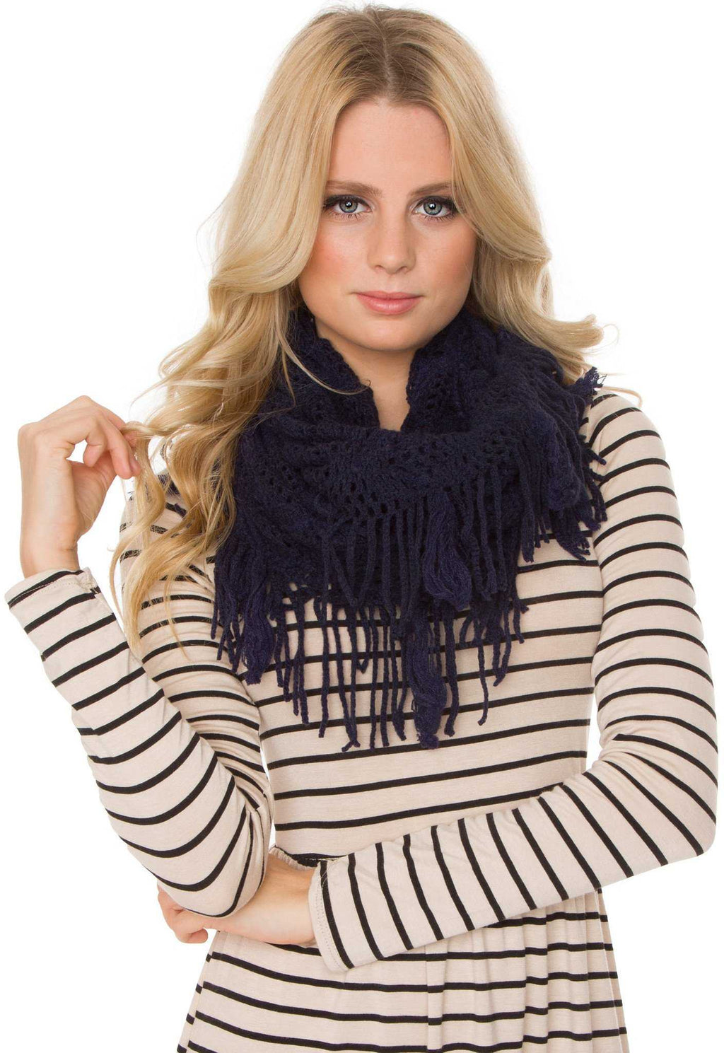Accessories - Mercy Infinity Scarf - Navy