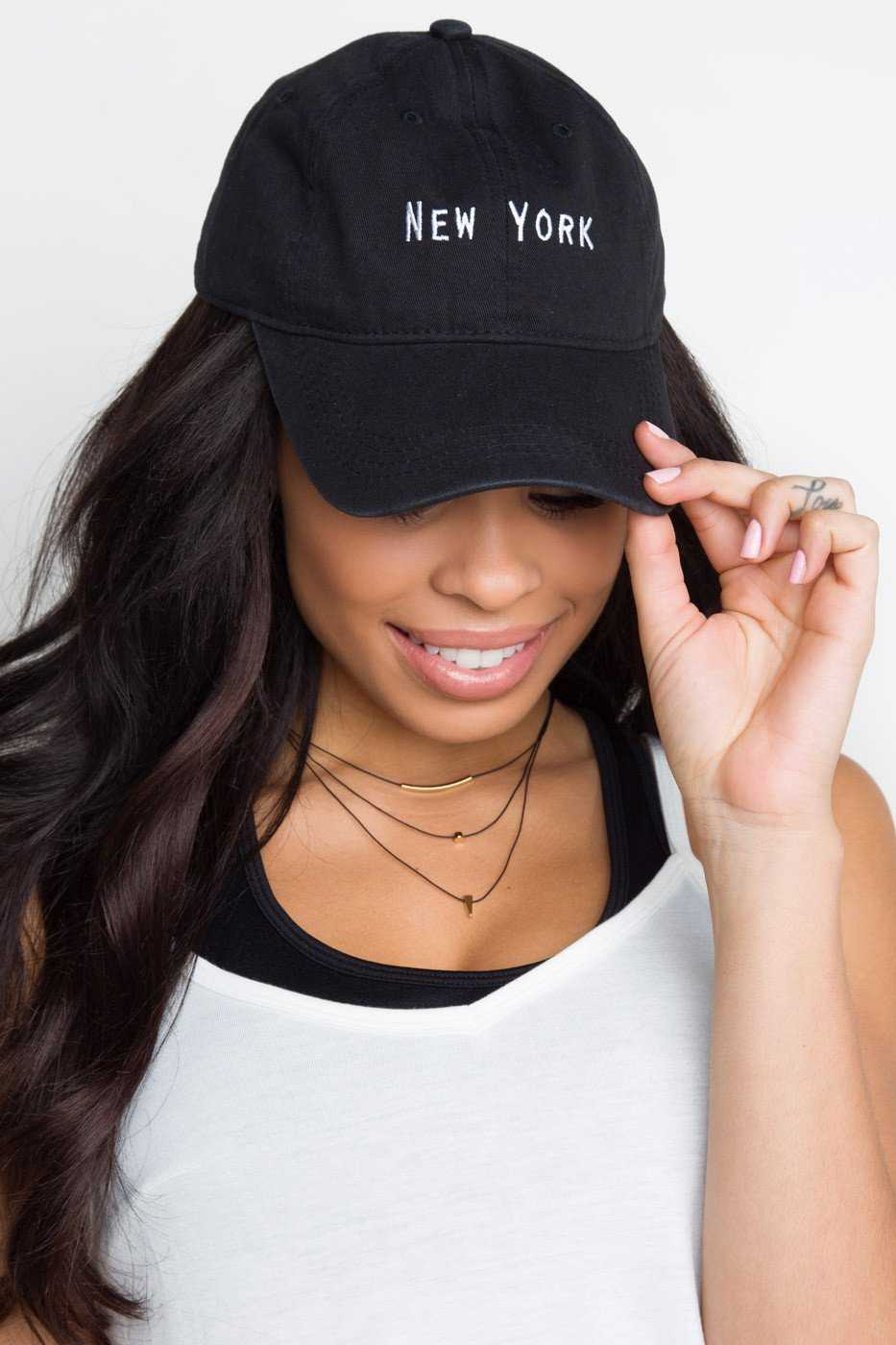 Accessories - New York Baseball Cap - Black