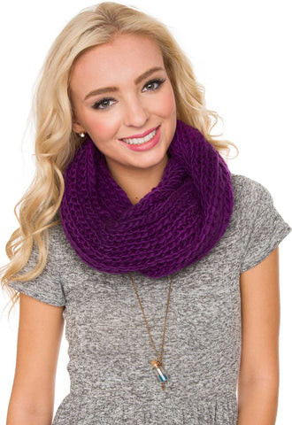 Enchanted Embrace Knit Scarf - Grey