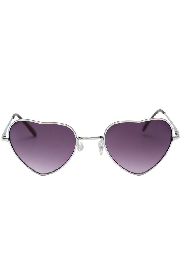 Accessories - One Last Time Heart Sunglasses - Purple