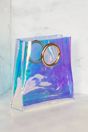 Clear Iridescent Bag