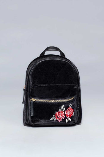 Accessories - Payton Rose Backpack - Black
