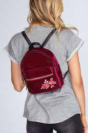 Accessories - Payton Rose Backpack - Burgundy Velvet