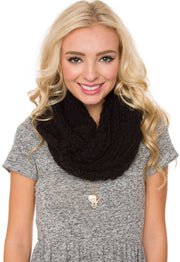 Accessories - Posh Infinity Scarf - Black
