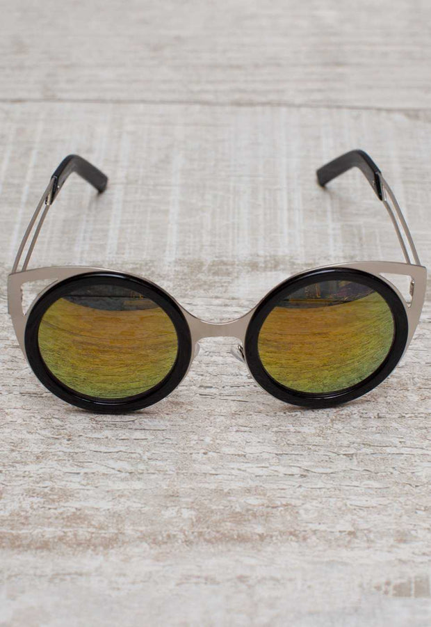 Accessories - Rin Round Sunglasses - Green