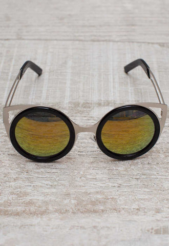 Summer Break Sunglasses - Neon Yellow
