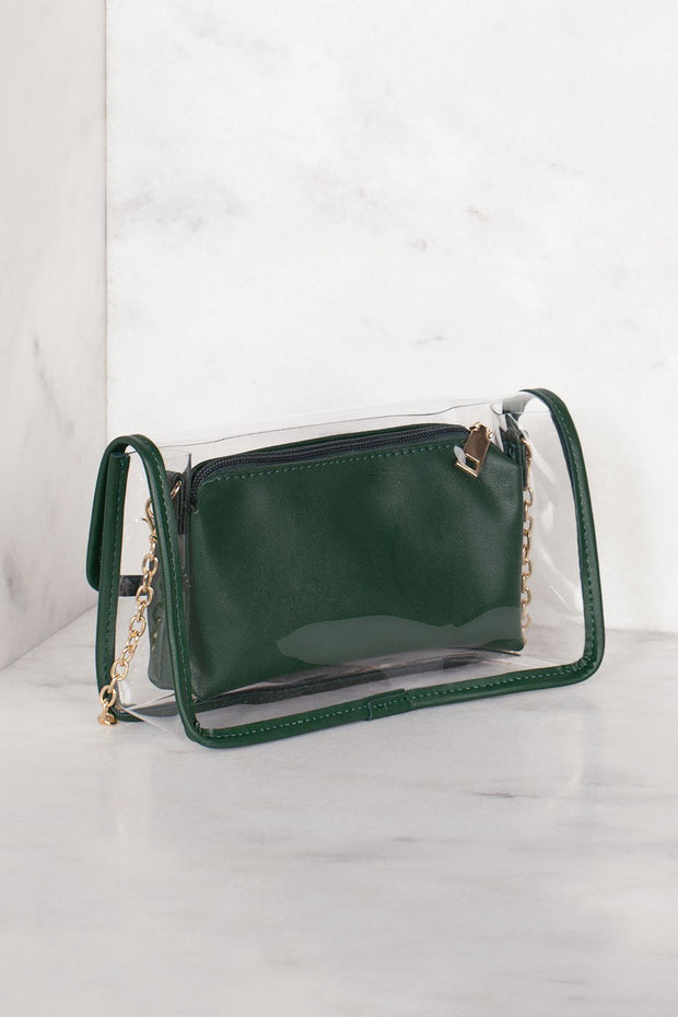 Transparent Green Cross Body Purse