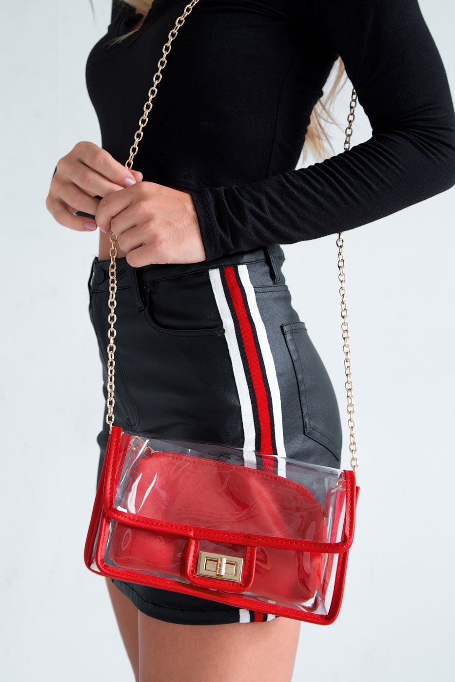 Accessories - See Thru Bag - Red