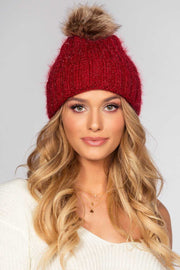 Accessories - Silverton Pom Beanie - Burgundy