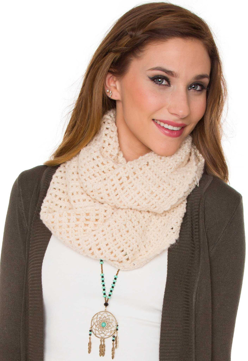 Accessories - Sinclair Infinity Scarf - Ivory