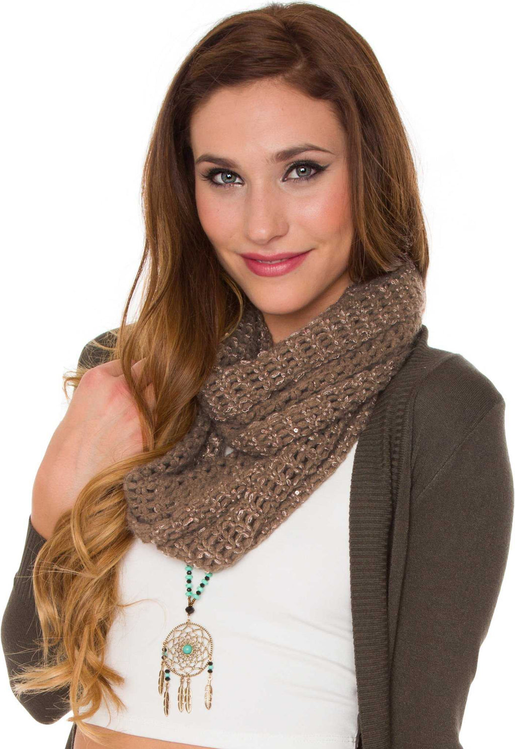 Accessories - Sinclair Infinity Scarf - Taupe