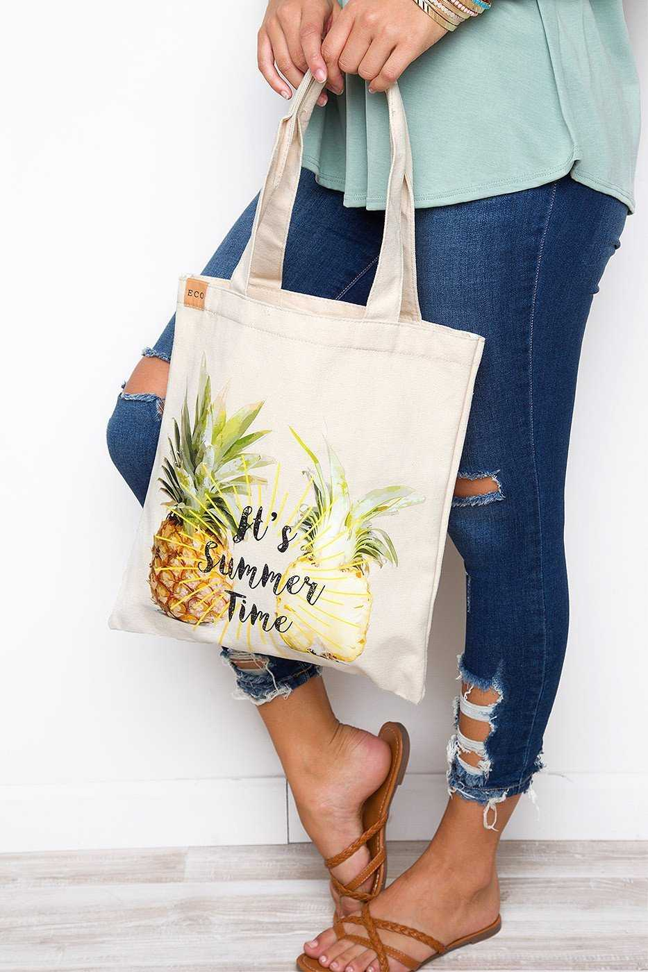 Accessories - Sweet Summer Tote - Pineapple