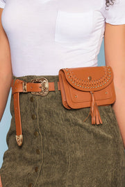 Accessories - Tolle Fringe Waist Belt Bag - Tan