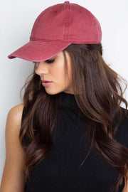 Accessories - Whimsy Baseball Cap - Burgundy