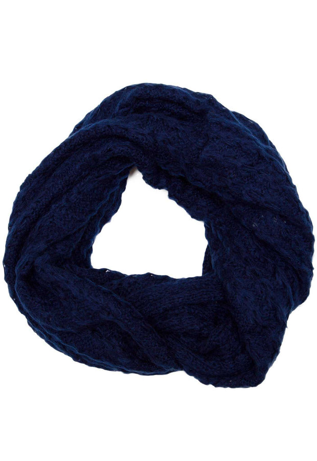 Accessories - Zara Infinity Scarf - Navy