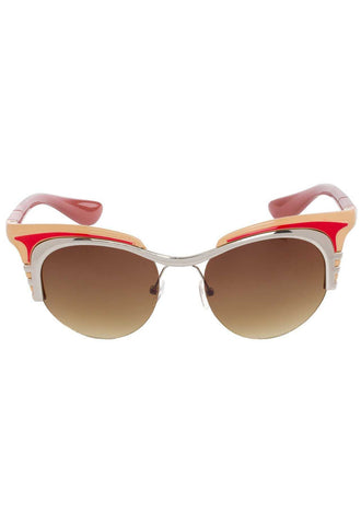 Lizbeth Cat-Eye Sunglasses - Red