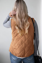 My Lane Camel Puffy Quilted Vest