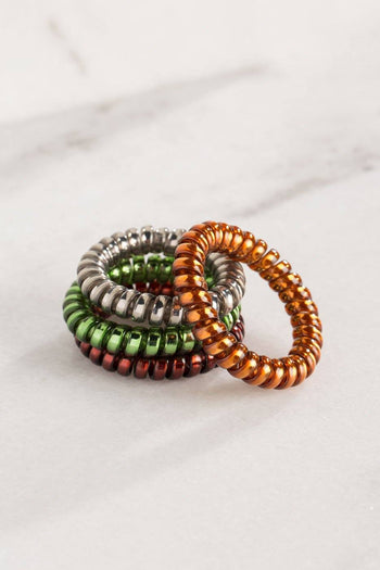 Telephone Cord Autumn Ponytail Hair Ties
