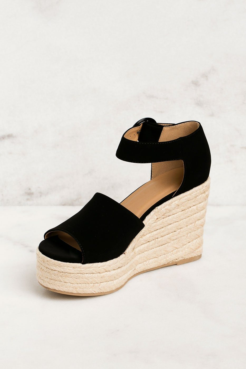 Priceless | Black | Wedges | Shoes | Womens