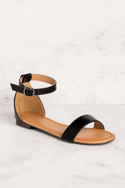 Priceless | Black | Ankle Strap | Sandals | Shoes | Womens