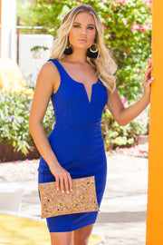 Lovely Rita Royal Bodycon Dress
