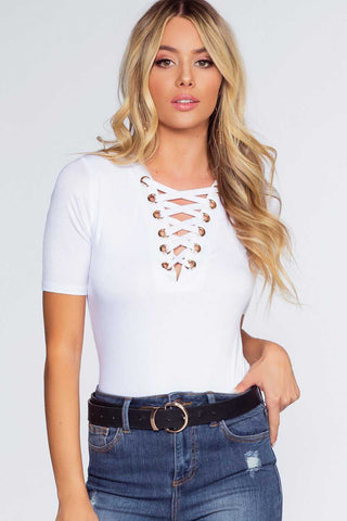 Tropic Sunset Crop Top - White