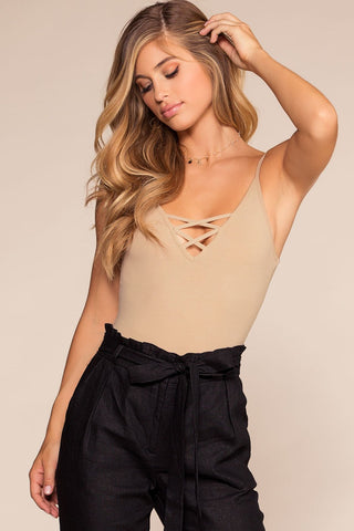 Fingers Crossed Crop Top - Black