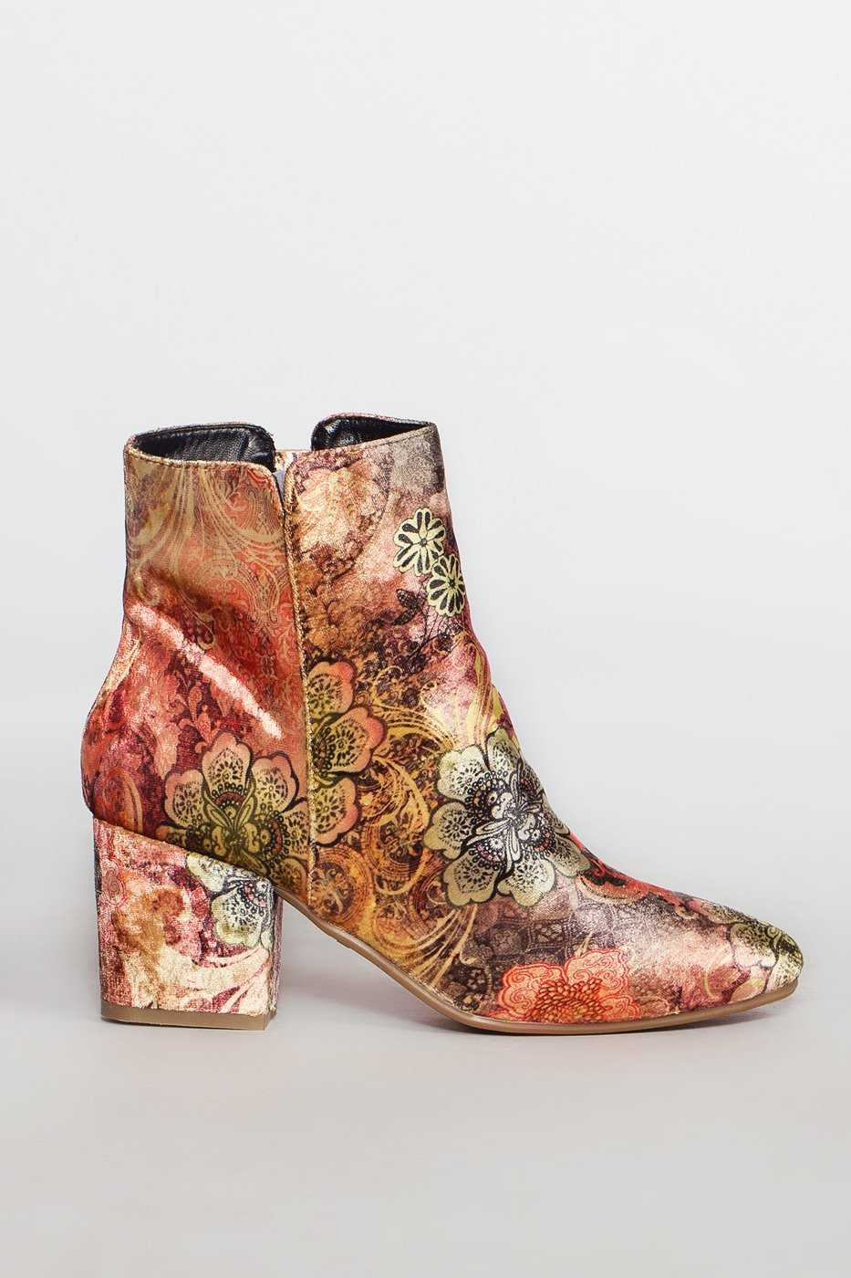 Booties - Ginger Paisley Booties