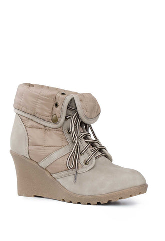 Go Wild Taupe Pointed-Toe Booties