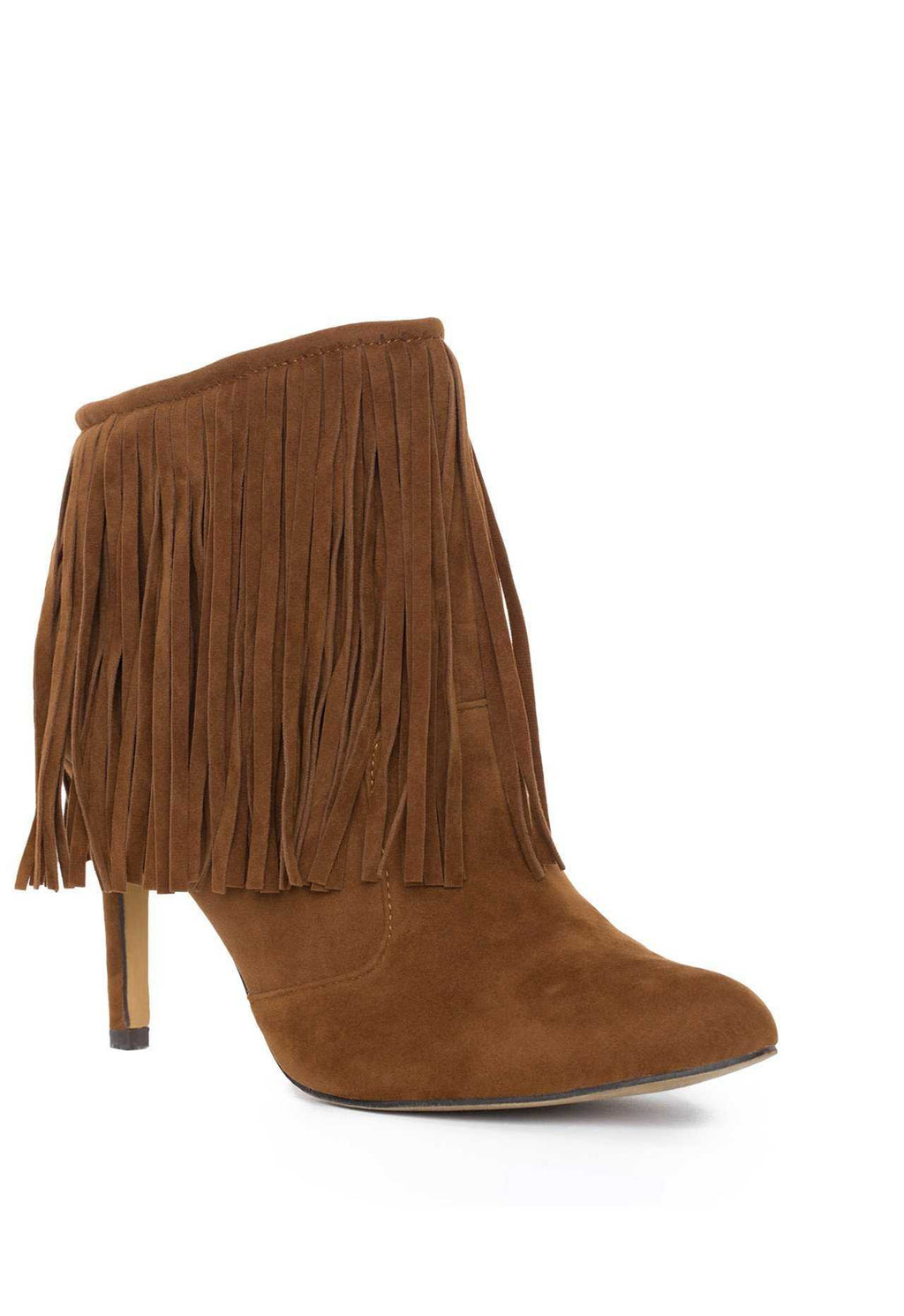 Booties - Wild West Fringe Booties - Tan