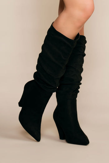 Boots - Cassie Pointy Toe Slouchy Boots