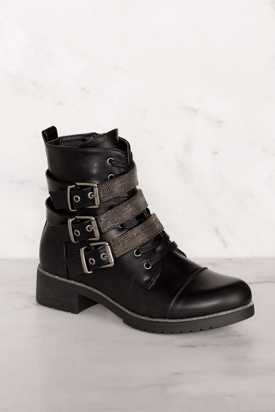 9310665f671 Legendary Black Buckle Boots